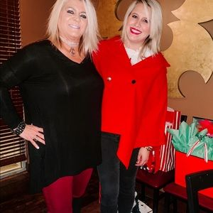 Shown red poncho